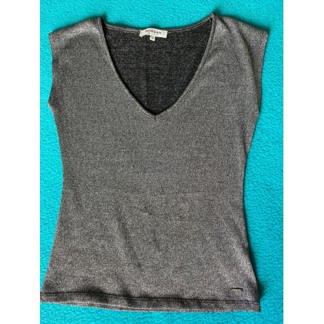 Top, tee-shirt MORGAN Argenté, acier