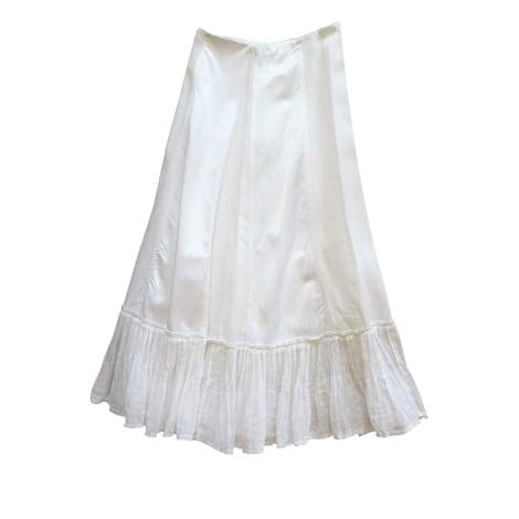 Jupe longue CHACOK Blanc, blanc cassé, écru