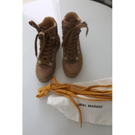 Bottines & low boots à compensés ISABEL MARANT Beige, camel