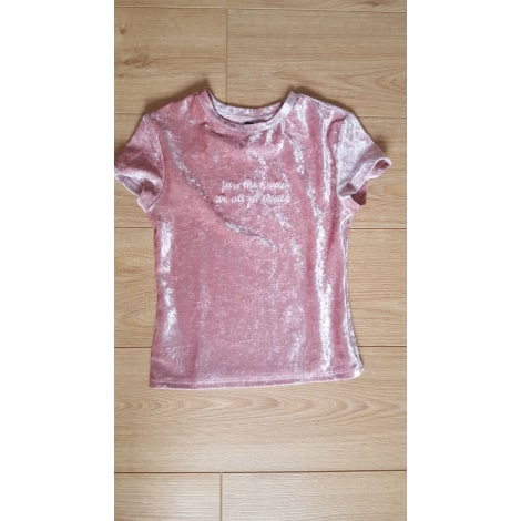 Top, tee-shirt H&M Rose, fuschia, vieux rose
