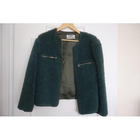 Blouson, veste en fourrure ACNE Vert