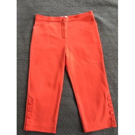Pantalon droit AGNÈS B. Orange