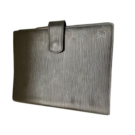 Briefcase, folder LOUIS VUITTON Black