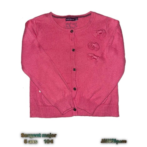 Gilet, cardigan SERGENT MAJOR Rose, fuschia, vieux rose