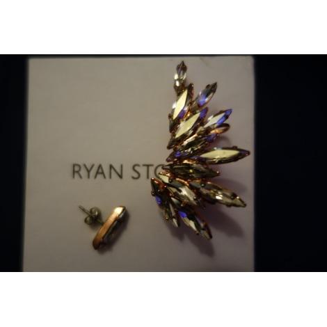 Boucles d'oreille RYAN STORER Argenté, acier