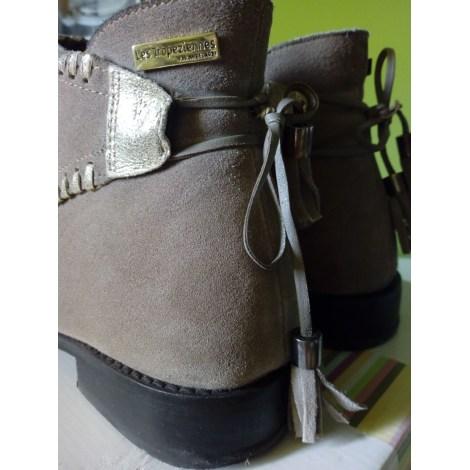 Bottines & low boots plates LES TROPÉZIENNES PAR M. BELARBI Beige, camel