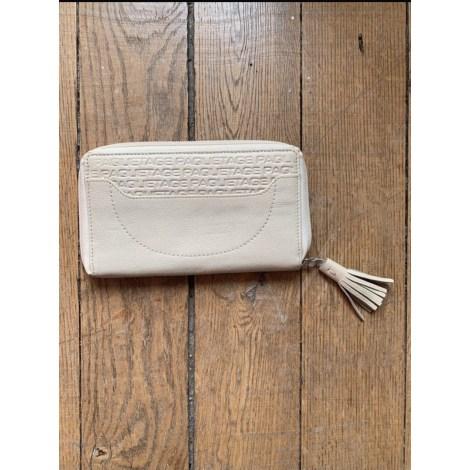 Portefeuille PAQUETAGE Blanc, blanc cassé, écru