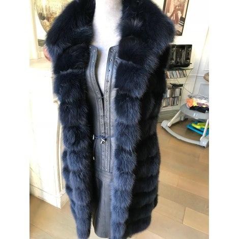 Manteau en fourrure VINICIO PAJARO Bleu, bleu marine, bleu turquoise