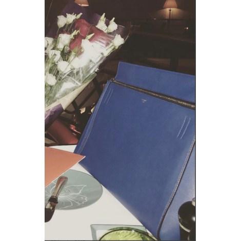 Sac à main en cuir CÉLINE Edge Bleu, bleu marine, bleu turquoise