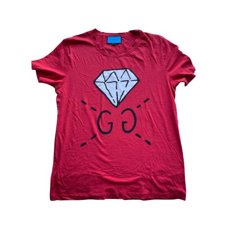 T-shirt GUCCI Red, burgundy