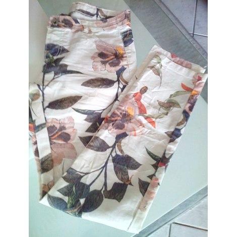 Pantalon slim, cigarette MADE IN ITALY Multicouleur