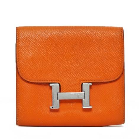 Portefeuille HERMÈS Constance Orange