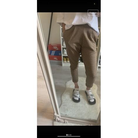 Pantalon carotte PULL & BEAR Marron