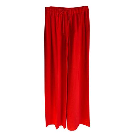 Wide Leg Pants MAX MARA Red, burgundy