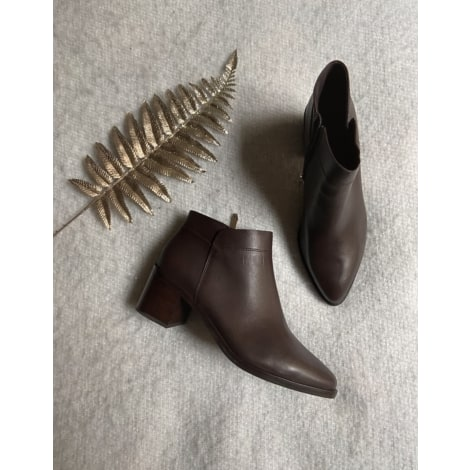 Bottines & low boots à talons WHAT FOR Marron