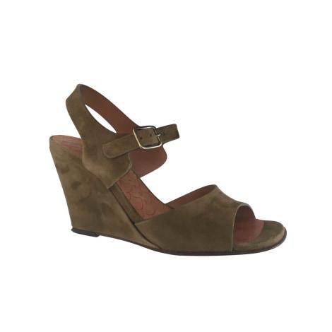Sandales compensées CHIE MIHARA Doré, bronze, cuivre