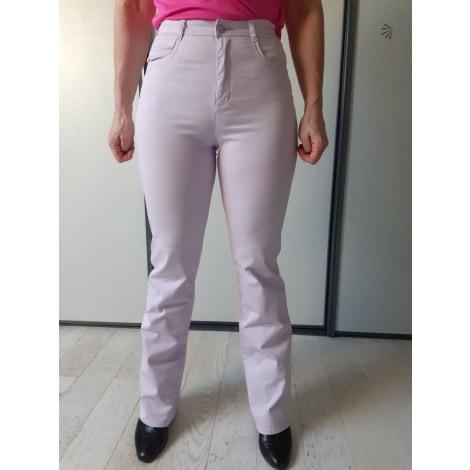 Pantalon droit WAMQUIMA Violet, mauve, lavande