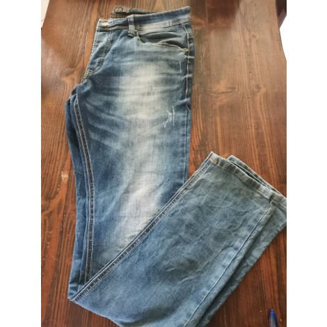 Jeans slim BLACK LABEL GOV DENIM Bleu, bleu marine, bleu turquoise