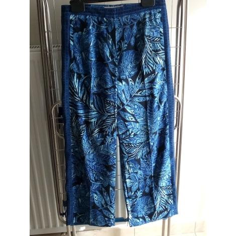 Pantalon large UN JOUR AILLEURS Bleu, bleu marine, bleu turquoise