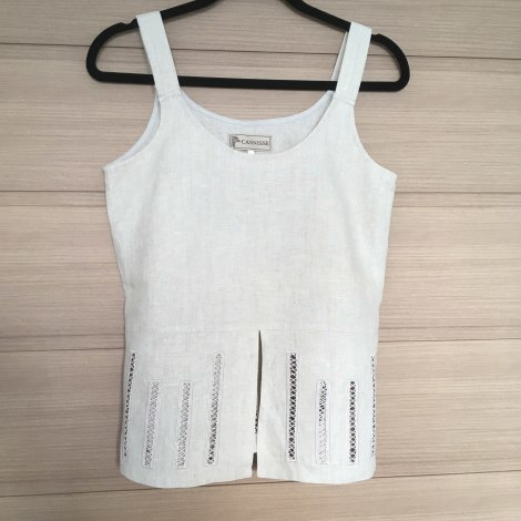 Top, tee-shirt CANNISSE Blanc, blanc cassé, écru