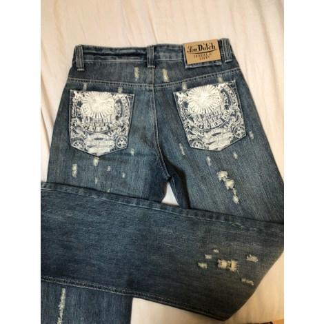 Jeans évasé, boot-cut VON DUTCH Bleu, bleu marine, bleu turquoise