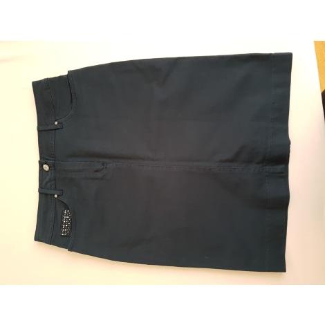 Jupe mi-longue ANTONELLE Bleu, bleu marine, bleu turquoise