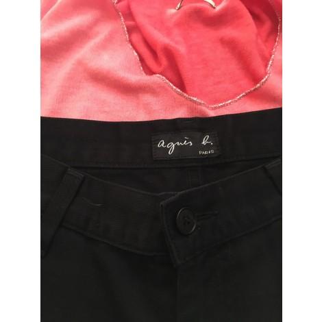 Pantalon slim, cigarette AGNÈS B. Noir