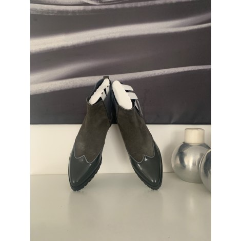 Bottines & low boots à compensés GEOX Kaki