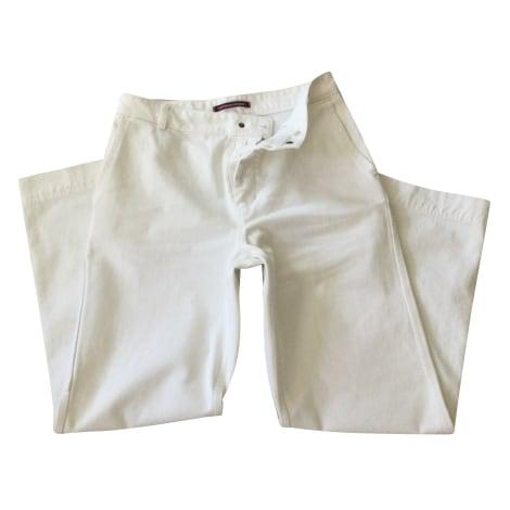 Pantalon droit COMPTOIR DES COTONNIERS Blanc, blanc cassé, écru