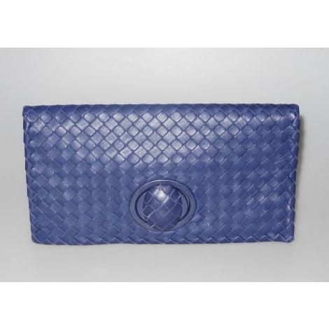 Sac pochette en cuir BOTTEGA VENETA Bleu, bleu marine, bleu turquoise