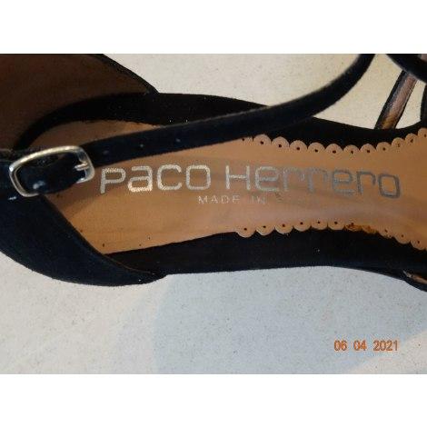 Escarpins à bouts ouverts PACO HERRERO Noir