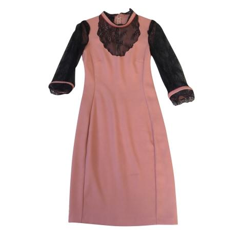 Robe mi-longue PINKO Rose, fuschia, vieux rose
