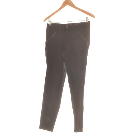 Pantalon slim, cigarette ONLY Noir