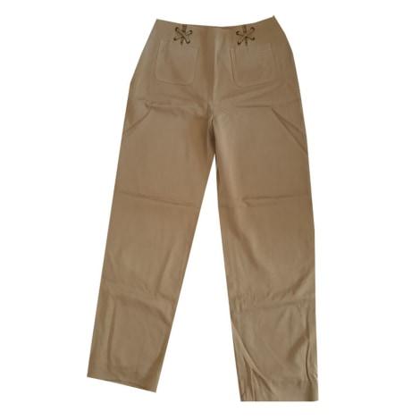 Pantalon large MARIA GRAZIA SEVERI Blanc, blanc cassé, écru
