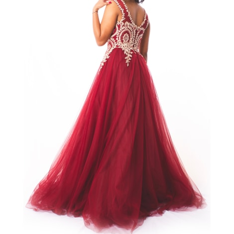 Robe de mariée MARQUE INCONNUE Rouge, bordeaux
