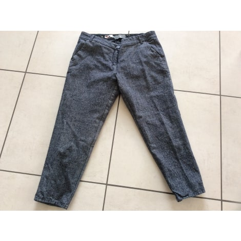 Pantalon droit COTÉLAC Bleu, bleu marine, bleu turquoise