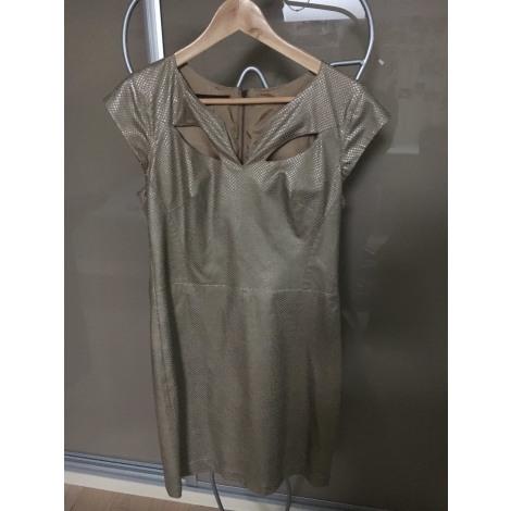Robe mi-longue HELENA SOREL Doré, bronze, cuivre
