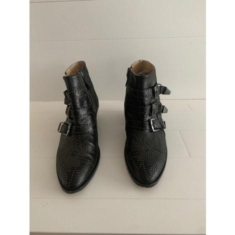 Santiags, bottines, low boots cowboy CHLOÉ Susanna Noir