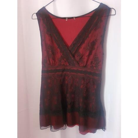 Top, tee-shirt PHILDAR Rouge, bordeaux