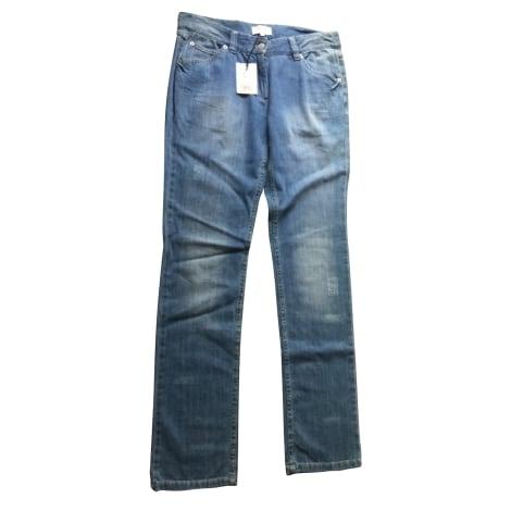 Jeans droit ISABEL MARANT Bleu, bleu marine, bleu turquoise
