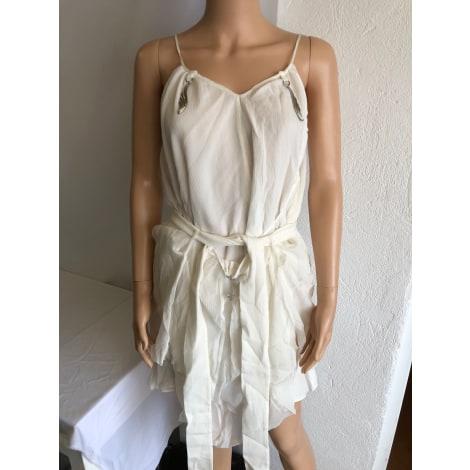 Robe courte FAITH CONNEXION Blanc, blanc cassé, écru