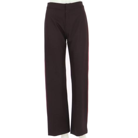 Pantalon droit LES PETITES... Rouge, bordeaux