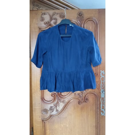 Blouse SANDRO Bleu, bleu marine, bleu turquoise