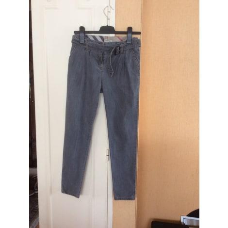 Pantalon droit BURBERRY Gris, anthracite
