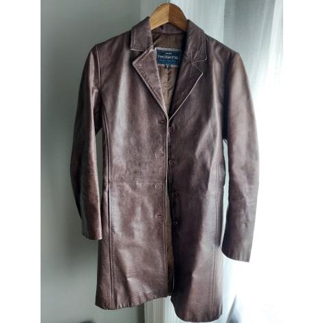 Manteau en cuir REDSKINS Marron
