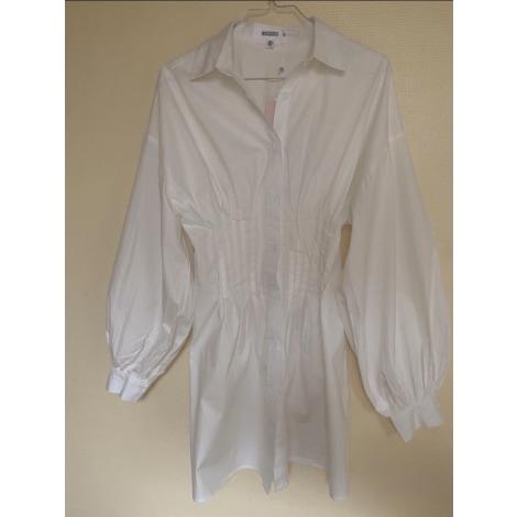 Robe mi-longue MISSGUIDED Blanc, blanc cassé, écru