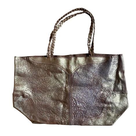Sac à main en cuir ZADIG & VOLTAIRE Doré, bronze, cuivre