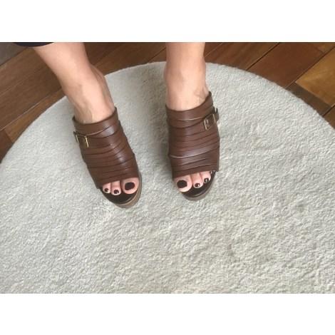 Sandales compensées ROBERT CLERGERIE Marron