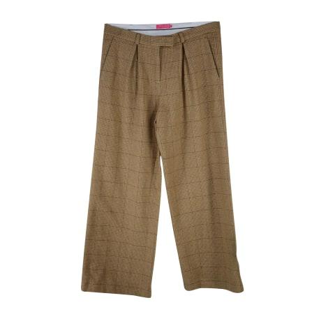 Pantalon large VICOMTE A. Marron