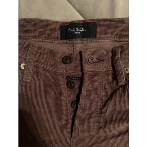 Pantalon droit PAUL SMITH Violet, mauve, lavande